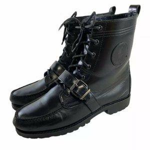 Polo Ralph Lauren Black Leather Men's Ranger Boots